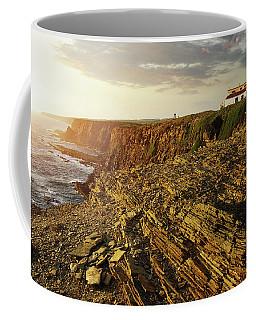 Coffee Mug featuring the photograph Alentejo Cliffs by Carlos Caetano