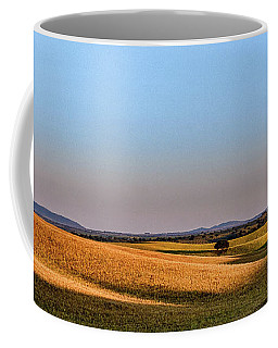 Coffee Mug featuring the photograph Alentejo Fields by Marion McCristall