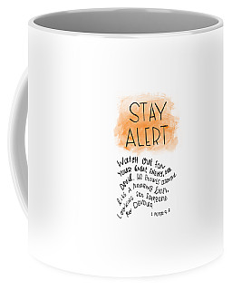 Coffee Mug featuring the drawing Alert by Nancy Ingersoll