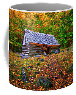 Alex Cole Cabin At Jim Bales Place, Roaring Fork Motor Trail In The Smoky Mountains Tennessee Coffee Mug