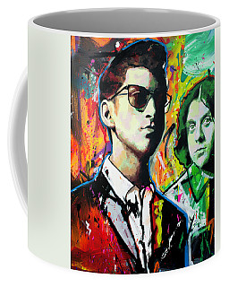 Coffee Mug featuring the painting Alex Turner by Richard Day