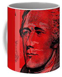 Coffee Mug featuring the digital art Alexander Hamilton - $10 Bill by Jean luc Comperat