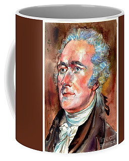Alexander Hamilton Watercolor Coffee Mug