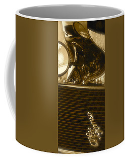 Coffee Mug featuring the photograph Alfa Romeo Front Grille Detail Phone Case by John Colley