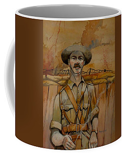 Coffee Mug featuring the painting Alfred Shout Vc by Ray Agius