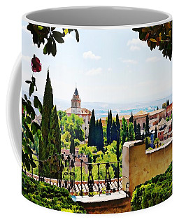 Alhambra Gardens, Digital Paint Coffee Mug
