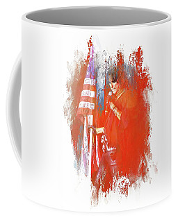 Alice In Patriotic Abstract Coffee Mug