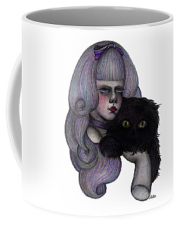 Alice With Black Cat Coffee Mug