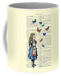 Alice With Blue And Orange Butterflies Coffee Mug