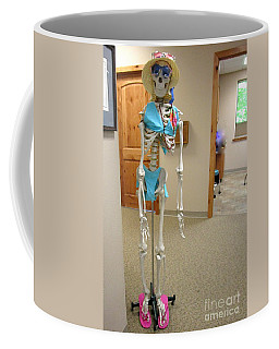 Coffee Mug featuring the photograph Alien Beyond The Door by Marie Neder