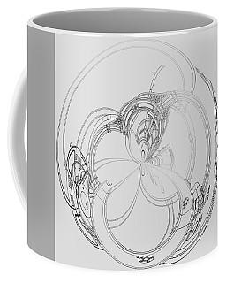 Coffee Mug featuring the digital art Alien Flywheel by Robert G Kernodle