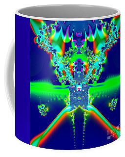 Coffee Mug featuring the digital art Alien Poodle Fractal 96 by Rose Santuci-Sofranko