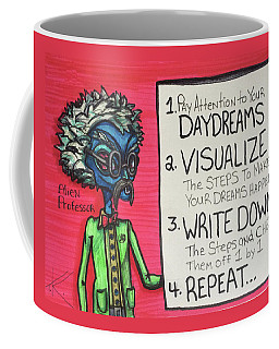 Coffee Mug featuring the drawing Alien Professor by Similar Alien