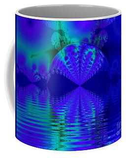 Alien Sunset Over Fantasy Lake Coffee Mug