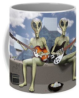 Alien Vacation - Trying To Make Ends Meet Coffee Mug