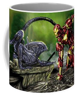 Alien Vs Iron Man Coffee Mug
