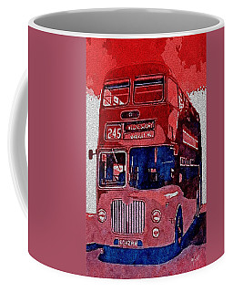 Coffee Mug featuring the painting All Aboard by Mark Taylor