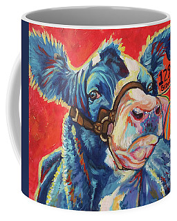 Coffee Mug featuring the painting All Dolled Up by Jenn Cunningham