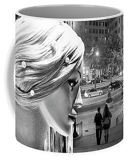 Coffee Mug featuring the photograph All Dressed Up And No Place To Go - B W by Chuck Staley