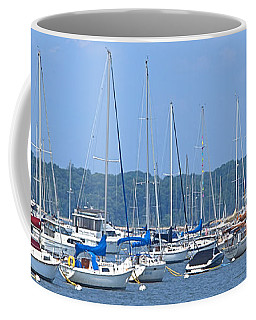 Coffee Mug featuring the photograph All In Line by Newwwman