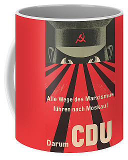 Coffee Mug featuring the painting All Marxist Paths Lead To Moscow by Artistic Panda