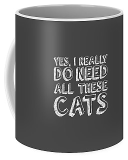 Coffee Mug featuring the digital art All These Cats by Nancy Ingersoll