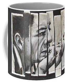Coffee Mug featuring the painting All Together Johnny Cash by Eric Dee