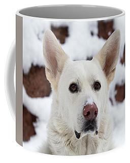 All White Coffee Mug by Amber Kresge