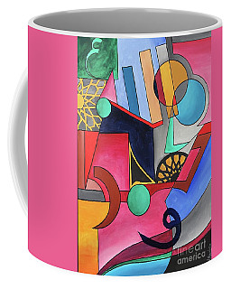 Coffee Mug featuring the painting Allah-muhammad by Nizar MacNojia