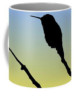 Allen's Hummingbird Silhouette At Sunrise Coffee Mug