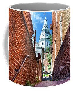 Alley View Of Maryland State House  Coffee Mug