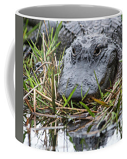 Alligator Closeup-0642 Coffee Mug