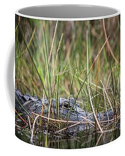 Alligator In Grass 0609 Coffee Mug