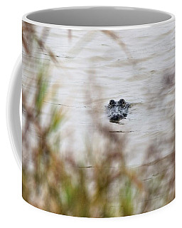 Coffee Mug featuring the photograph Alligator Lips by John Glass