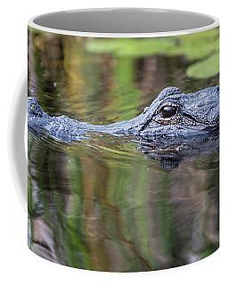 Alligator Swims-2-0599 Coffee Mug