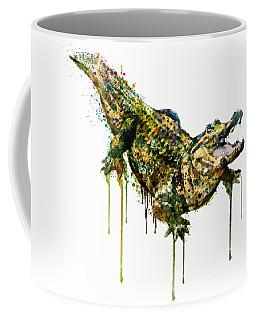 Alligator Watercolor Painting Coffee Mug by Marian Voicu
