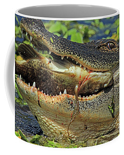Alligator With Tilapia Coffee Mug