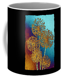 Coffee Mug featuring the mixed media Alluring Allium Abstract 2 by Will Borden