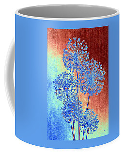 Coffee Mug featuring the mixed media Alluring Allium Abstract by Will Borden