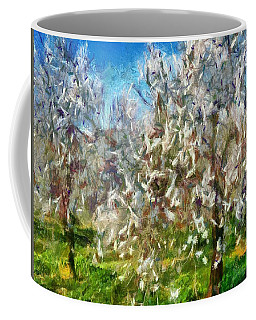 Almond Orchard Blossom Coffee Mug by Tracey Harrington-Simpson