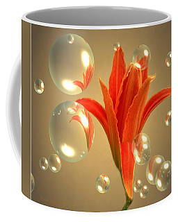 Coffee Mug featuring the photograph Almost A Blossom In Bubbles by Joyce Dickens