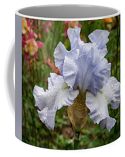 Coffee Mug featuring the photograph Almost Blue Bearded Iris by Jean Noren