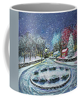 Coffee Mug featuring the painting Almost Home by Rita Brown