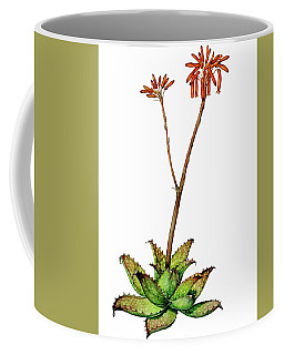 Coffee Mug featuring the painting Aloe Zebrina by Heidi Kriel