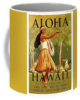 Aloha Hawaii, Hula Girl Dance Coffee Mug
