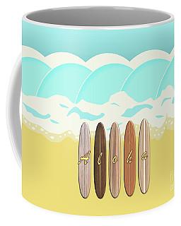 Aloha Surf Wave Beach Coffee Mug