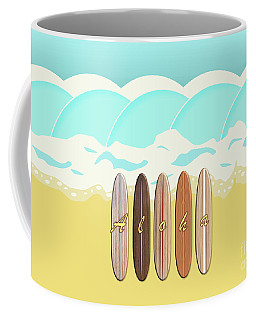Aloha Surf Wave Beach Coffee Mug