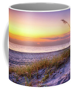 Coffee Mug featuring the photograph Alone At Dawn by Debra and Dave Vanderlaan