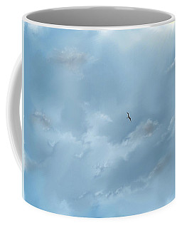 Coffee Mug featuring the digital art Alone by Darren Cannell