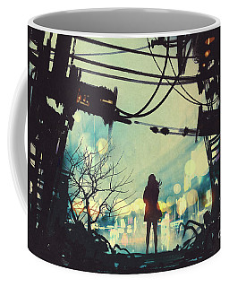 Alone In The Abandoned Town#2 Coffee Mug
